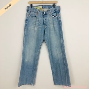 [Hollister] Men's Low Rise Button Fly Bootcut Jean
